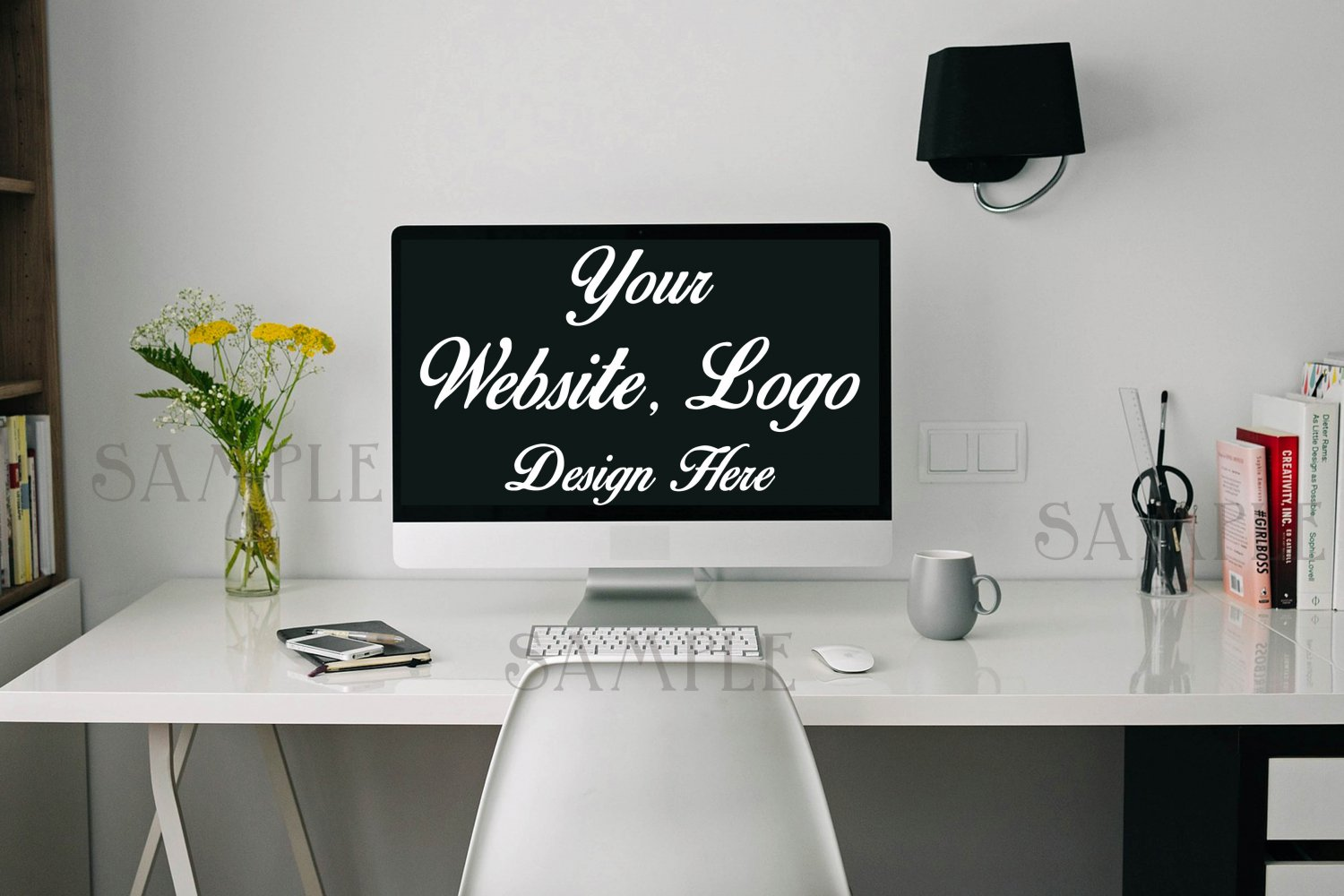 "Stock Photography Desk Mock up - 8 x 10"" - High Res Jpeg file. Floral styled stock photography"