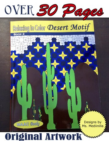 Relax in Color Desert Motifs Coloring Book for Adults and Big Kids Coloring Pages