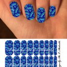 Jamberry Nail Wraps Blue Ocean Swirls Design CUSTOM NAS