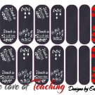 Jamberry Nail Wraps Black Chalkboard Design  CUSTOM NAS