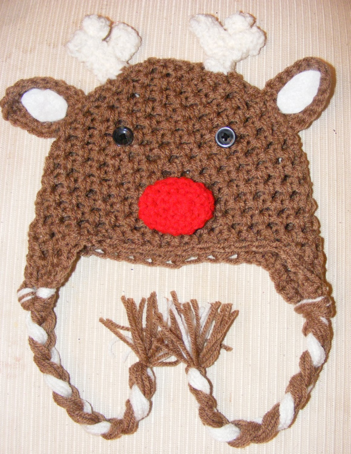 Newborn 0-3,3-6,or 6-12 toddler child photo prop christmas reindeer hat photography