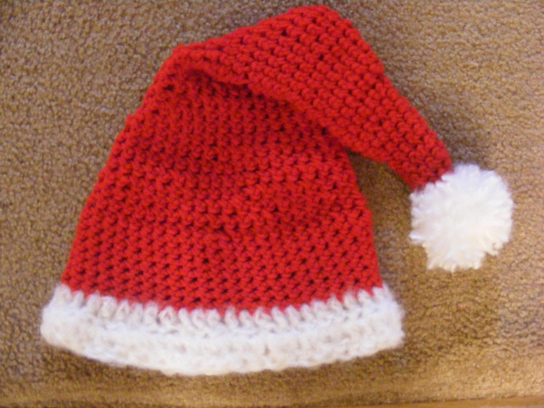 Newborn Santa clause crochet hat photo props photography