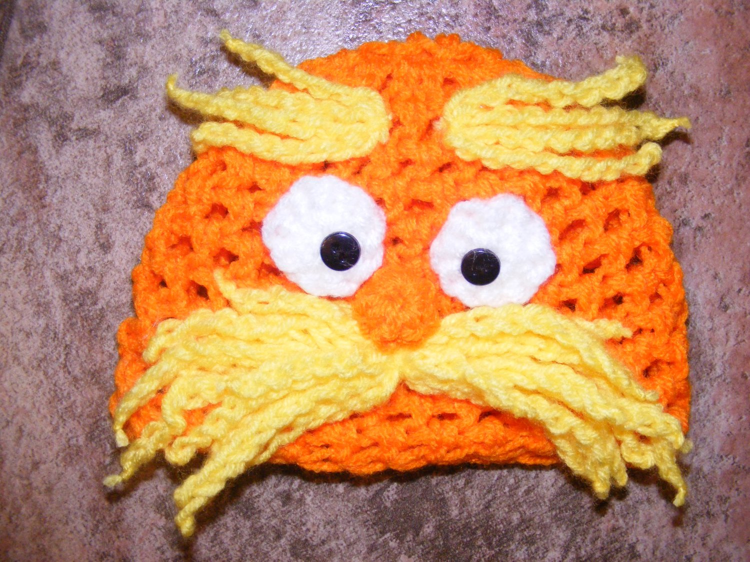 Inspired from Dr. Seuss The Lorax crochet baby newborn hat photo prop  photography 1202d86b411