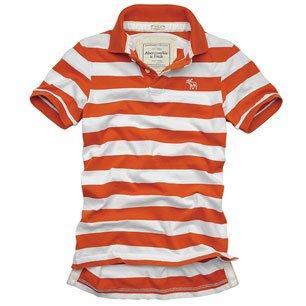 NWT Abrcrombie  Azure Mountain Men Polos Orange