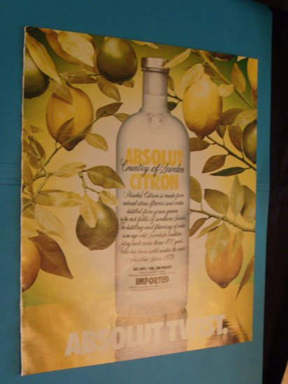 1992 Absolut Twist Vodka Ad