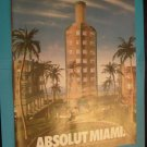 1992 Absolut Vodka Miami Print Ad