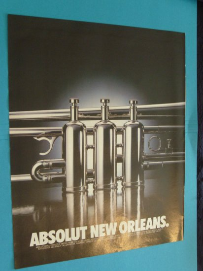 Absolut Vodka New Orleans Print Ad