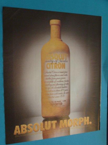 Absolut Morph Vodka Print Ad