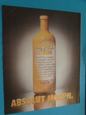 Absolut Morph Vodka Print Ad