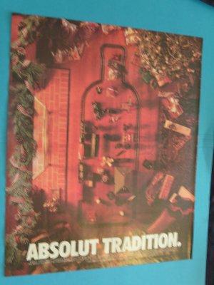 Absolut Tradition Vodka Train Christmas Print Ad