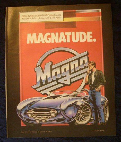 1989 Magna Convertible Cigarette Ad