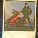 1985 Honda Elite Motorcycle Print Ad Lou Reed NYC