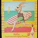 1991 Malibu Rum Running Gazelle Print Ad