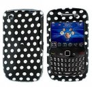 FOR BLACKBERRY CURVE 8520 8530 COVER HARD CASE POLKA DOT