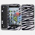 FOR HTC Desire Z Cover Hard Case Zebra