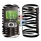 For LG Octane VN530 Cover Hard Case Zebra