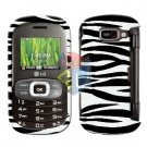 For LG Octane VN530 Cover Hard Case Zebra + Screen