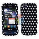 For LG Sentio GS505 Cover Hard Case Polka Dot