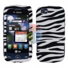 For LG Sentio GS505 Cover Hard Case Zebra