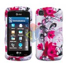 For LG Encore GT550 Cover Hard Case W-Flower