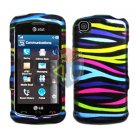 For LG Encore GT550 Cover Hard Case Rainbow