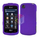For LG Encore GT550 Cover Hard Case Purple