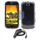 For HTC T-Mobile Mytouch 4g Car Charger +Cover Hard Case Clear