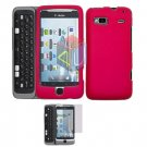 For HTC T-Mobile G2 Protector Screen + Cover Hard Case Rose Pink