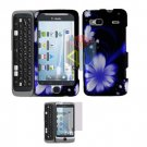 For HTC T-Mobile G2 Protector Screen + Cover Hard Case B-Flower