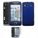 For HTC Desire Z Protector Screen + Cover Hard Case Blue