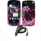 For LG Cookie Plus GS500 Car Charger +Cover Hard Case Love