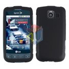 For LG Optimus S / LS-670 Cover Hard Case Rubberized Black