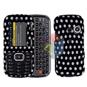 For LG Rumor2 Rumour 2 UX265 Cover Hard Case Polka Dot