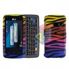 For LG Banter Touch UN510 Cover Hard Case C-Zebra