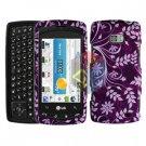 For LG Ally VS740 Cover Hard Case P-Flower