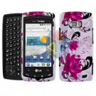 For LG Ally VS740 Cover Hard Case P-Flower