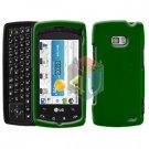 For LG Ally VS740 Cover Hard Case Green