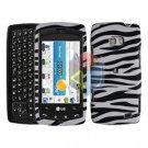 For LG Apex US740 Cover Hard Case Zebra