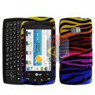 For LG Apex US740 Cover Hard Case C-Zebra