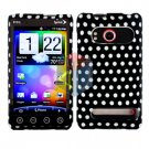 For HTC Evo 4G Cover Hard Case Polka Dot