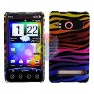 For HTC Evo 4G Cover Hard Case C-Zebra