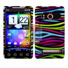 For HTC Evo 4G Cover Hard Case Rainbow