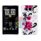 For HTC HD2 HD 2 Cover Hard Case W-Flower