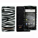 For Motorola Droid A855 Cover Hard Case Zebra