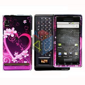 For Motorola Droid A855 Cover Hard Case Love