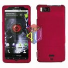 For Motorola Droid X mb810 Cover Hard Case Rose Pink