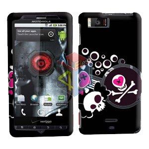 For Motorola Droid X mb810 Cover Hard Case H-Skull