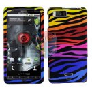 For Motorola Droid X mb810 Cover Hard Case C-Zebra