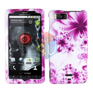 For Motorola Droid X mb810 Cover Hard Case H-Flower