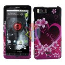 For Motorola Droid X mb810 Cover Hard Case Love